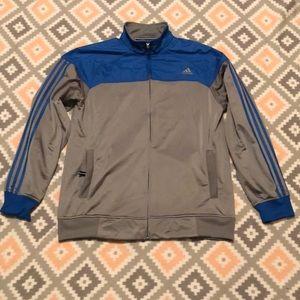 Adidas Mens Royal Blue&Silver Full Zip Jacket SzXL